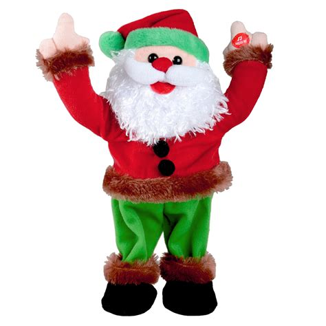 33cm animated musical dancing christmas xmas disco santa