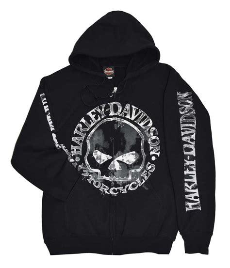 Jaket Zipper Hoodie Harleydavidson Motorcycle harley davidson s zippered sweatshirt jacket willie g