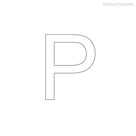 5 best images of printable letter stencils p letter p