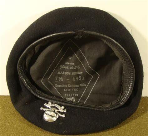 dorothea knitting mills ltd canadian basque beret regimental insignia