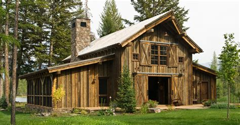 barn style cabins montana mountain barn retreat