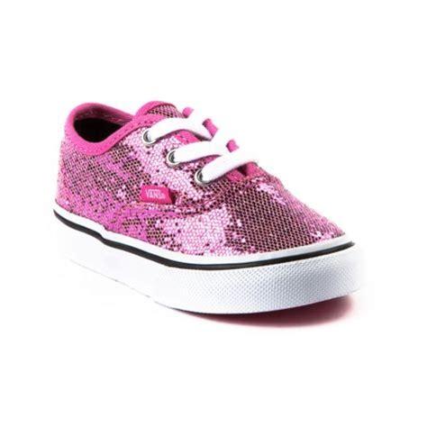 shop for toddler vans authentic glitter skate shoe in pink