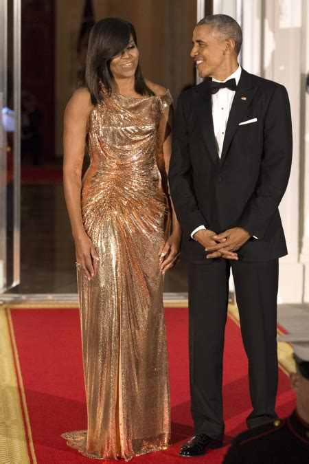 michelle obama gowns michelle obama wears atelier versace gown to final state