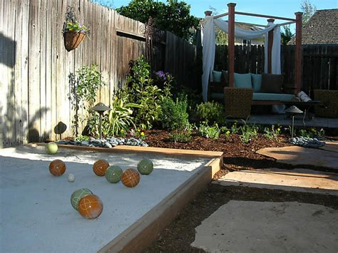backyard bocce ball from unused backyard to entertainment oasis diy