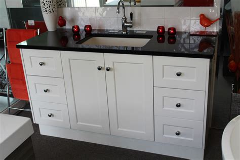 Custom Made Vanity Units by Custom 1500mm Vanity Unit With Black Granite Top