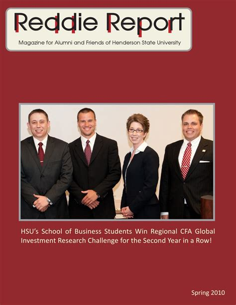 Henderson State Mba by Reddie Report 2009 2010 By Henderson State Issuu