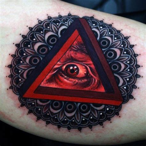 8 triangle eye tattoos on chest 90 triangle tattoo designs for men manly ink ideas