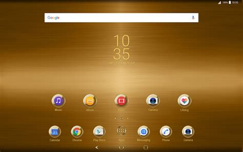 google themes gold gold plated theme for xperia android apps on google play