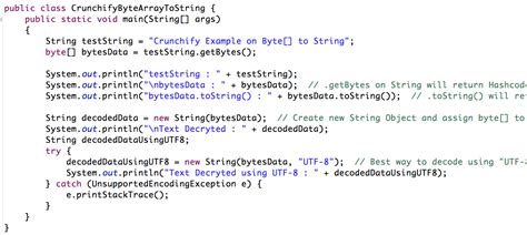 How To Create String - java how to convert byte array to string crunchify