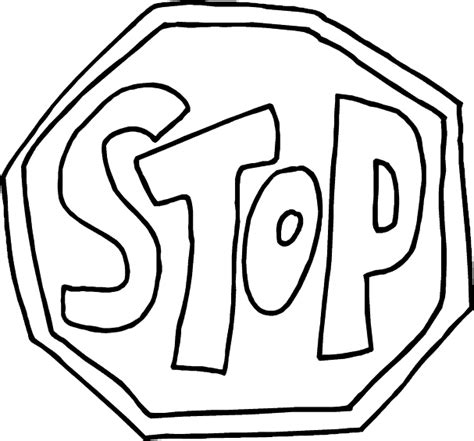 picture of stop sign clipart best