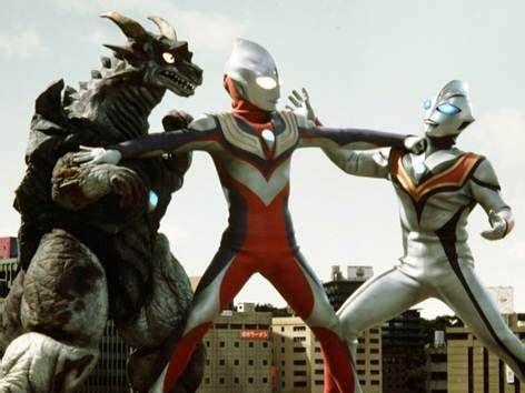 film robot ultraman tiga and evil tiga ultraman kamen rider tokusatsu