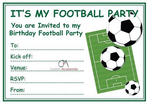 Football Invites Kids Children S Boys Football Birthday Party Invitations A5 Ebay Football Themed Invitation Template