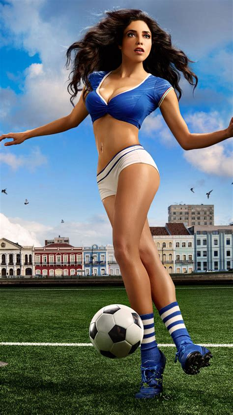 free themes girl hot fifa world cup 2014 brunette sexy girl android wallpaper