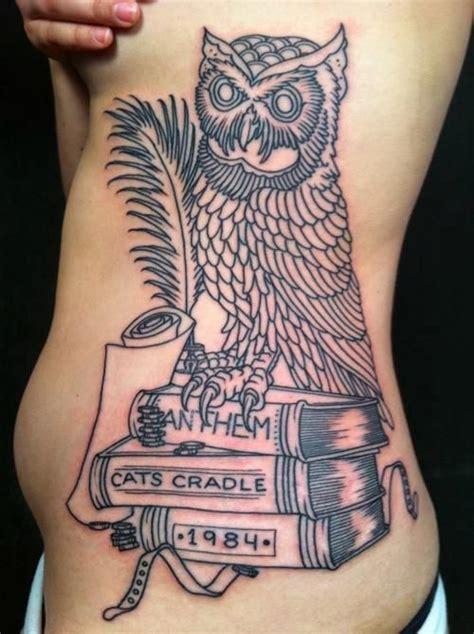 tattoo owl books book owl tattoos pinterest