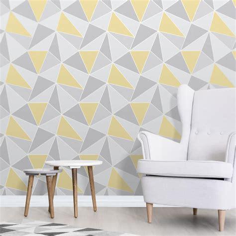 Fine decor apex geo yellow grey wallpaper geometric wallpaper