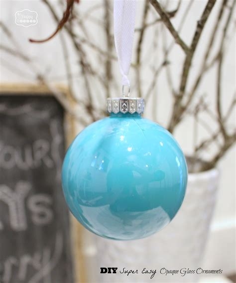 Beach Themed Home Decor diy super easy opaque glass painted ornaments blue