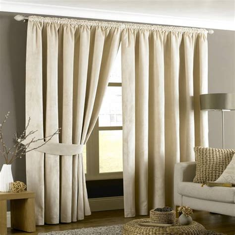 cream velvet curtains riva home imperial velvet woven pencil pleat lined curtains