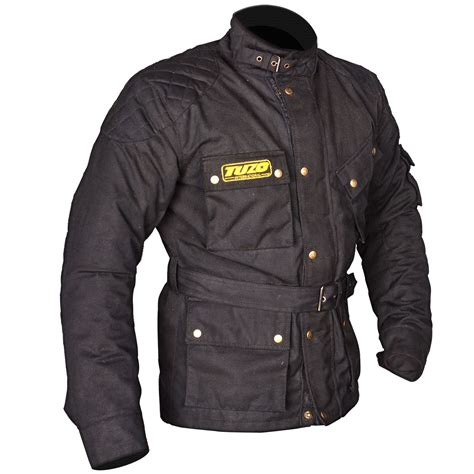 mc jacket tuzo classic cotton wax motorcycle jacket kickstart online