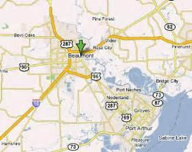 map of beaumont and surrounding areas beaumont map and beaumont satellite image