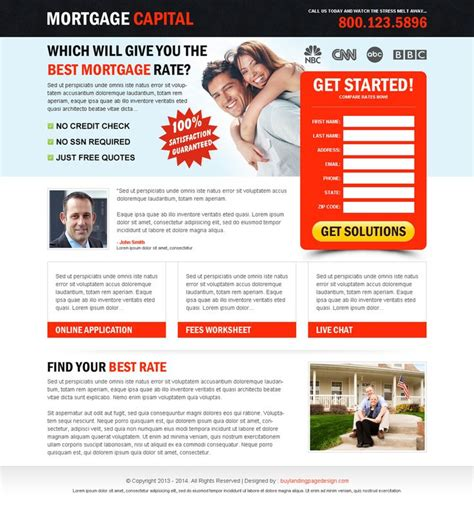 mortgage landing page templates 88 best mortgage landing page design images on