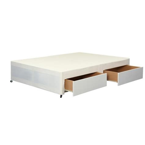 Divan Base With Drawers by Cotton Small 4ft Divan Base With 2 Drawers
