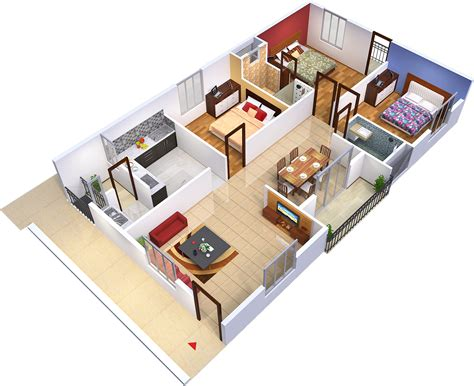 3d house plan with the implementation of 3d max modern 1325 sq ft 3 bhk 2t apartment for sale in purva mithra