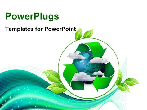 green and recycling ppt template for powerpoint powerpoint template climate change concept planet earth