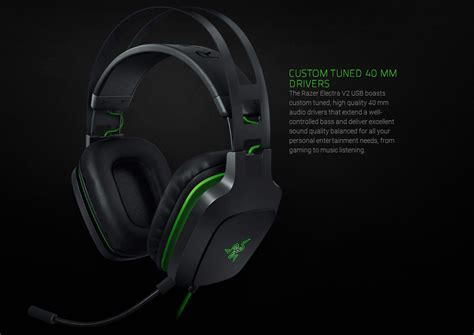 Jual Busa Headset Razer Electra razer electra usb v2 gaming headset with black