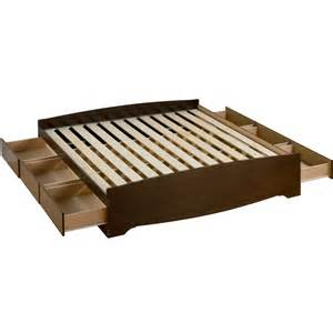 King Size Platform Bed With Storage Platform Storage Bed King Sized In Beds And Headboards
