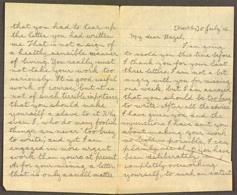 Title Letter Ri Letter To Hazel 5 July 16 Cecil Malthus World War I Papers Letters Telegrams
