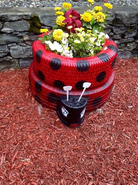 Using Tires As Planters by Diy Ideas Made Of Tyres For Your Garden Ecotek Green