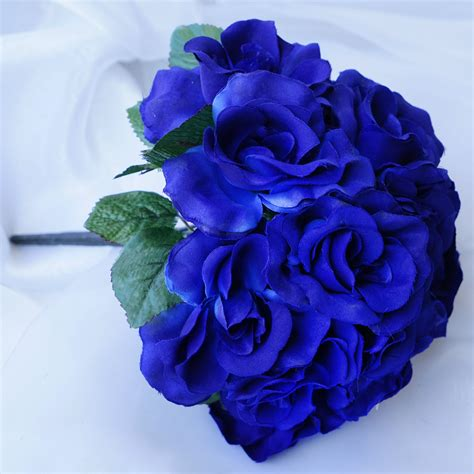 Blue Wedding Flowers Pictures by 4 Royal Blue Velvet Bouquets Wedding Flower Bouquets
