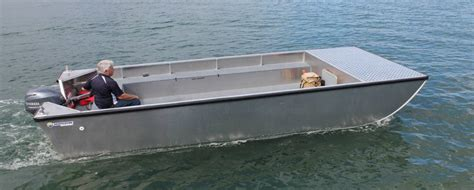 large punt boat for sale horizon boats commercial work boats punt barge