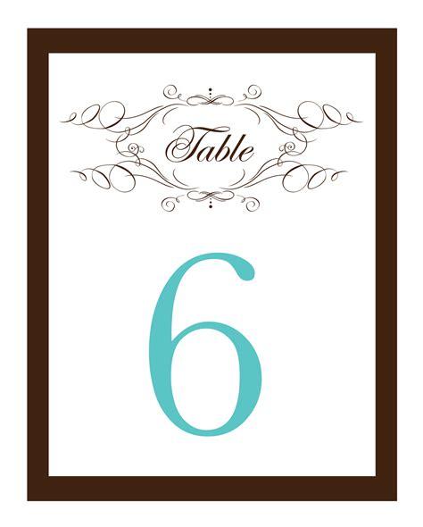 Free Printable Wedding Table Number Templates