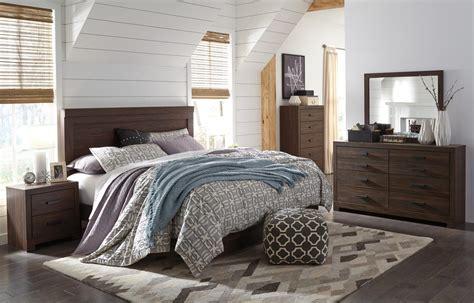 ashley king bedroom set ashley arkaline b071 king size bedroom set 5pcs in brown