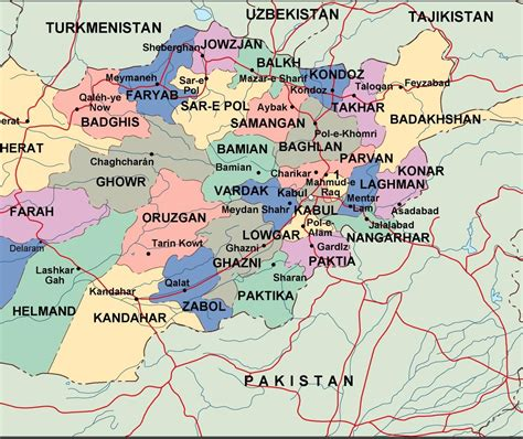 afghanistan political map eps illustrator map our