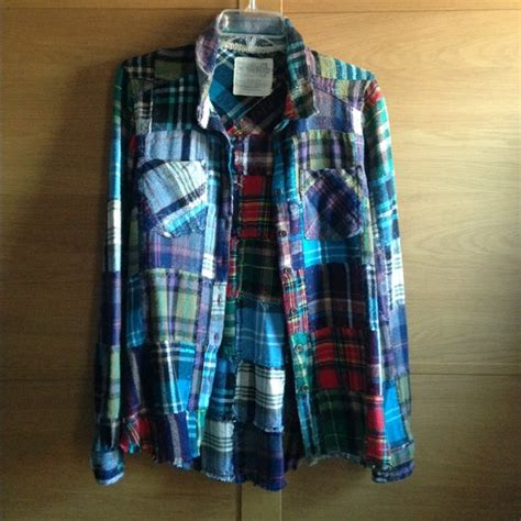 Patchwork Flannel - 49 free tops free lost in plaid