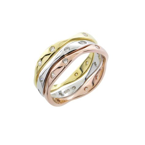 tri color ring tri color stackable rings