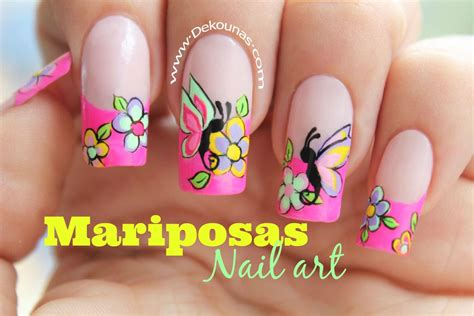 imagenes uñas decoradas mariposas decoraci 243 n de u 241 as facil de mariposas deko u 209 as moda