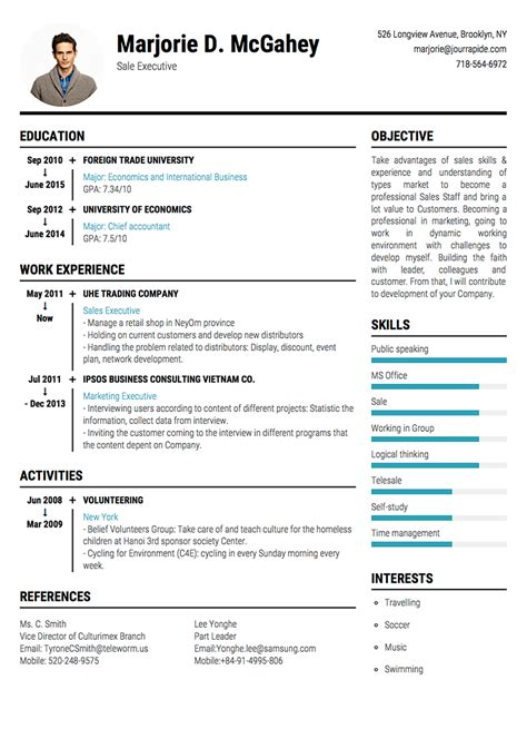 Resume Timeline by Professional Resume Cv Templates With Exles Topcv Me