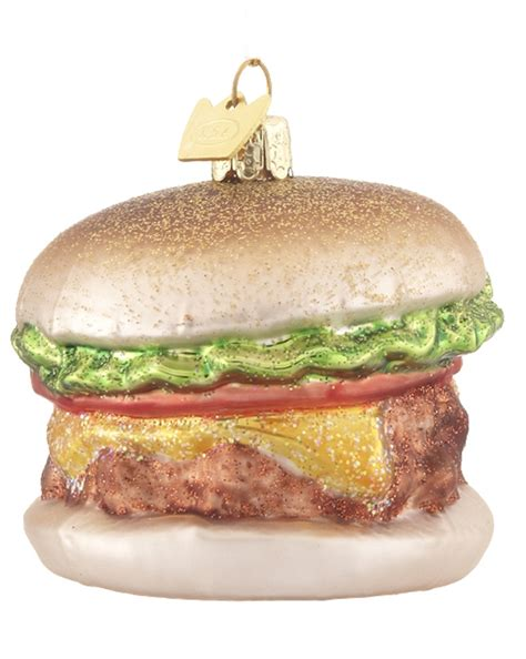 burger personalized ornament