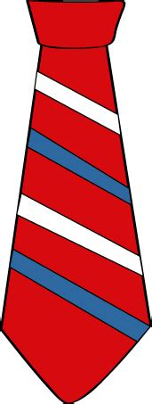 striped red white and blue tie clip art striped red