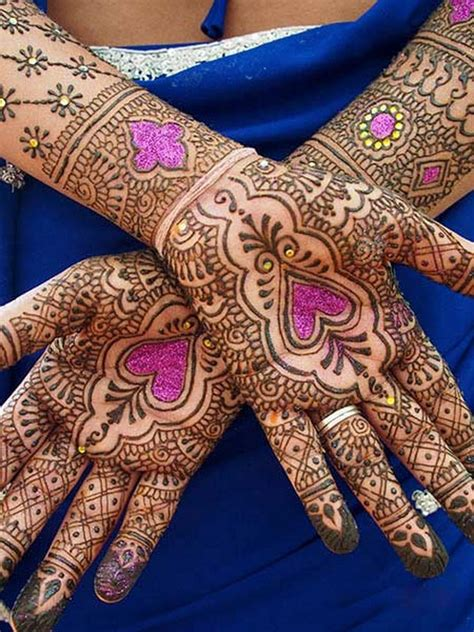 henna design with glitter latest glitter mehndi designs for eid 2014 11 life n fashion