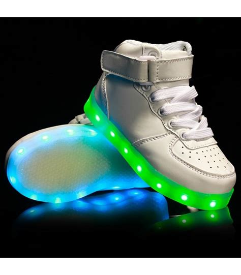 how to charge light up shoes glidekicks kids juniors white high tops led sneakers