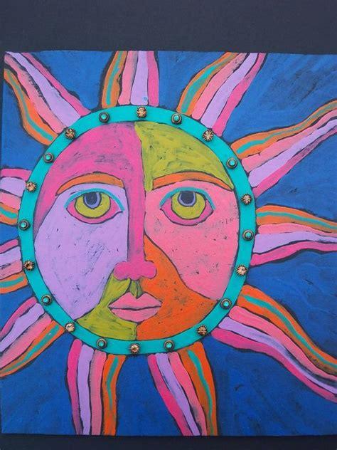 acrylic paint sun orginal acrylic painting sun painting