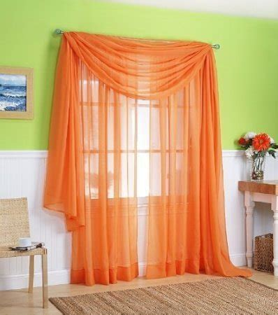 Sheer Curtains Orange Buy Best Orange Curtains Ease Bedding With Style