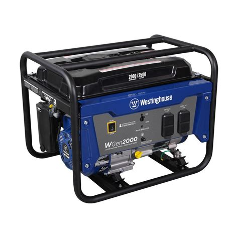 westinghouse 2 000 watt gas powered portable generator