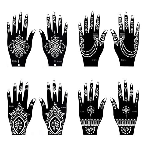 misha henna tattoo amazon 28 henna stencils akiyo henna designs