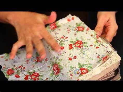 decoupage purse tutorial let s diy napkin decoupage on fabric purse youtube