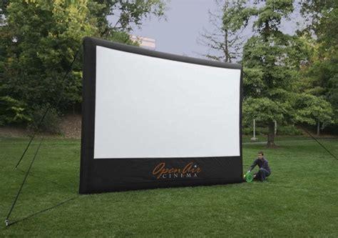 open air cinema screen screen projector